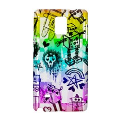 Rainbow Scene Kid Sketches Samsung Galaxy Note 4 Hardshell Case