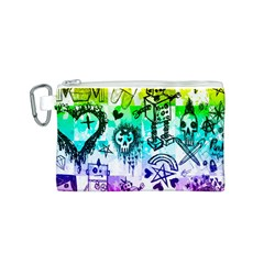 Rainbow Scene Kid Sketches Canvas Cosmetic Bag (Small)