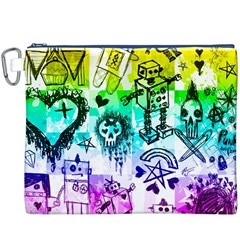 Rainbow Scene Kid Sketches Canvas Cosmetic Bag (XXXL)
