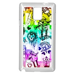 Rainbow Scene Kid Sketches Samsung Galaxy Note 4 Case (White)