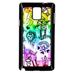 Rainbow Scene Kid Sketches Samsung Galaxy Note 4 Case (black)