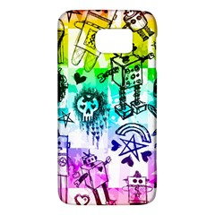 Rainbow Scene Kid Sketches Samsung Galaxy S6 Hardshell Case