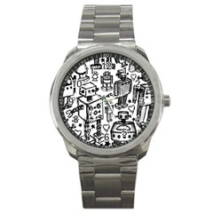 Robot Crowd Sport Metal Watch