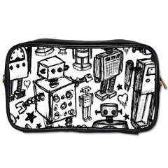 Robot Crowd Travel Toiletry Bag (one Side)