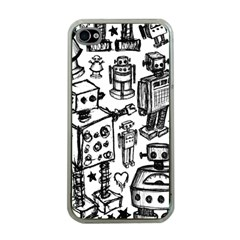 Robot Crowd Apple Iphone 4 Case (clear)
