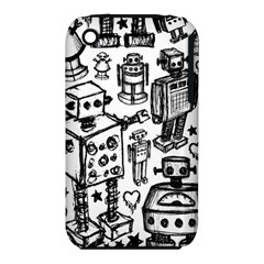 Robot Crowd Apple Iphone 3g/3gs Hardshell Case (pc+silicone)