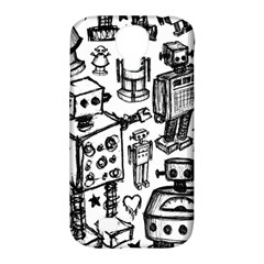 Robot Crowd Samsung Galaxy S4 Classic Hardshell Case (pc+silicone)