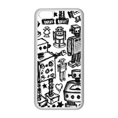 Robot Crowd Apple Iphone 5c Seamless Case (white)