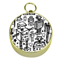 Robot Crowd Gold Compass