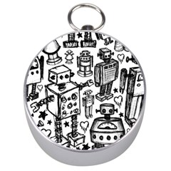 Robot Crowd Silver Compass