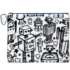 Robot Crowd Canvas Cosmetic Bag (XXXL)