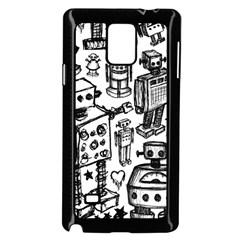Robot Crowd Samsung Galaxy Note 4 Case (Black)