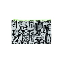 Robot Crowd Cosmetic Bag (xs)