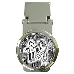 Robot Love Money Clip With Watch