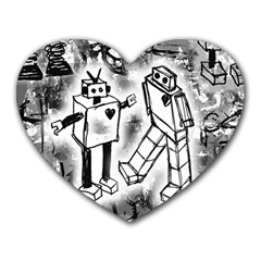 Robot Love Mouse Pad (heart)