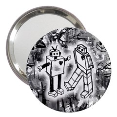 Robot Love 3  Handbag Mirror