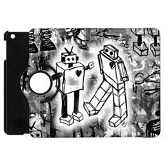 Robot Love Apple Ipad Mini Flip 360 Case