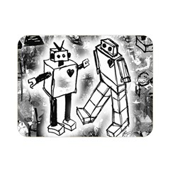 Robot Love Double Sided Flano Blanket (mini)