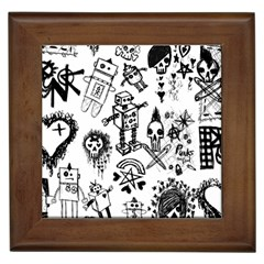 Scene Kid Sketches Framed Ceramic Tile