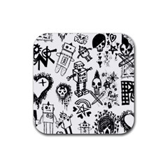 Scene Kid Sketches Drink Coasters 4 Pack (square)