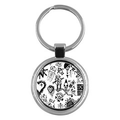 Scene Kid Sketches Key Chain (round)