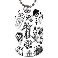 Scene Kid Sketches Dog Tag (one Sided)