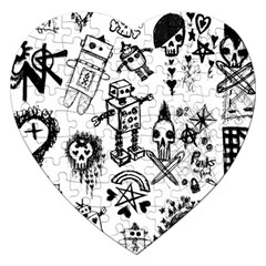 Scene Kid Sketches Jigsaw Puzzle (heart)