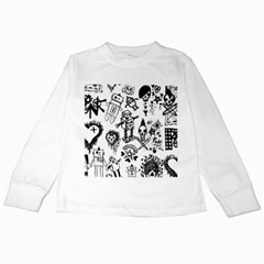 Scene Kid Sketches Kids Long Sleeve T-Shirt