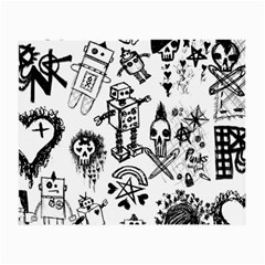 Scene Kid Sketches Glasses Cloth (small, Two Sided)
