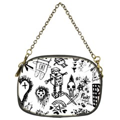 Scene Kid Sketches Chain Purse (one Side)