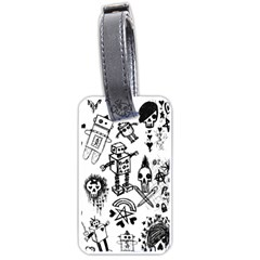 Scene Kid Sketches Luggage Tag (two Sides)