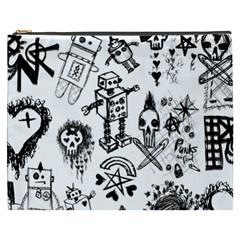 Scene Kid Sketches Cosmetic Bag (xxxl)
