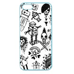 Scene Kid Sketches Apple Seamless Iphone 5 Case (color)