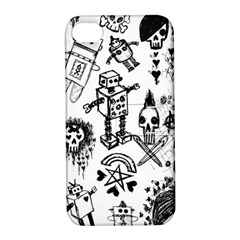 Scene Kid Sketches Apple Iphone 4/4s Hardshell Case With Stand