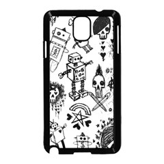 Scene Kid Sketches Samsung Galaxy Note 3 Neo Hardshell Case (Black)