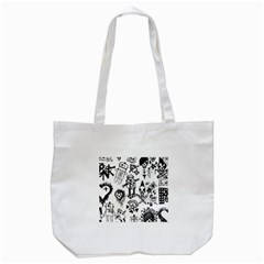 Scene Kid Sketches Tote Bag (White)