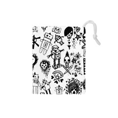 Scene Kid Sketches Drawstring Pouch (Small)