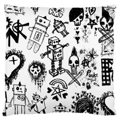 Scene Kid Sketches Large Flano Cushion Case (One Side)