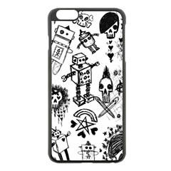 Scene Kid Sketches Apple iPhone 6 Plus Black Enamel Case