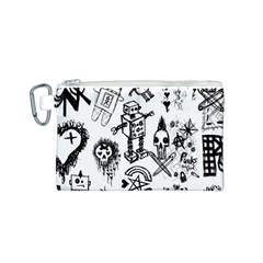 Scene Kid Sketches Canvas Cosmetic Bag (small)