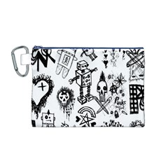 Scene Kid Sketches Canvas Cosmetic Bag (Medium)