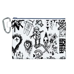 Scene Kid Sketches Canvas Cosmetic Bag (Large)