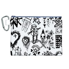 Scene Kid Sketches Canvas Cosmetic Bag (XL)