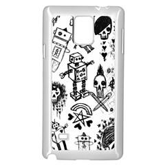 Scene Kid Sketches Samsung Galaxy Note 4 Case (White)