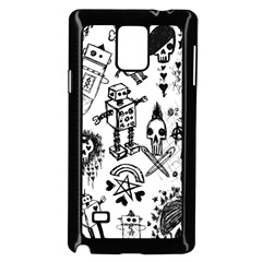 Scene Kid Sketches Samsung Galaxy Note 4 Case (Black)
