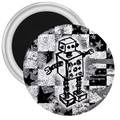 Sketched Robot 3  Button Magnet