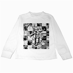 Sketched Robot Kids Long Sleeve T-Shirt