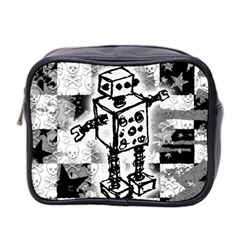 Sketched Robot Mini Travel Toiletry Bag (two Sides)