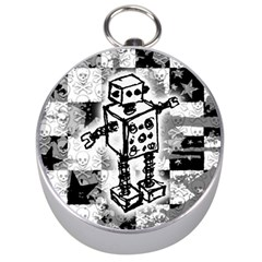 Sketched Robot Silver Compass