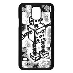 Sketched Robot Samsung Galaxy S5 Case (Black)